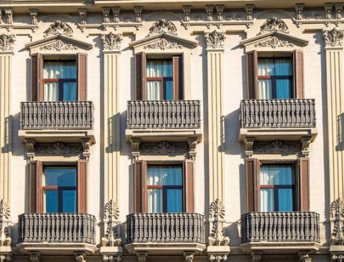 bigstock-Facade-with-balconies-in-Barce-80888201